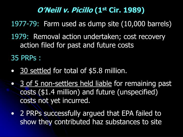 O'Neill v. Picillo