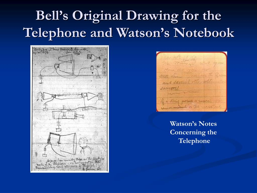 Bell's Original Drawing for the Telephone and Watson's Notebook