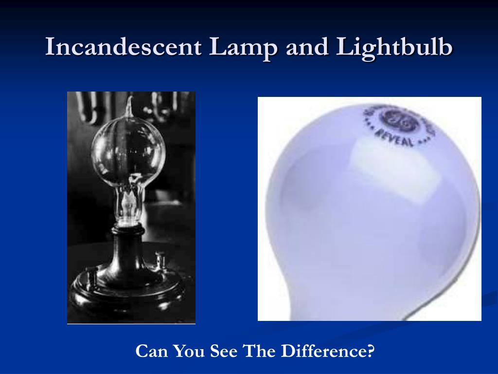 Incandescent Lamp and Lightbulb