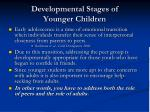 developmental stages of younger children