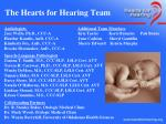 the hearts for hearing team