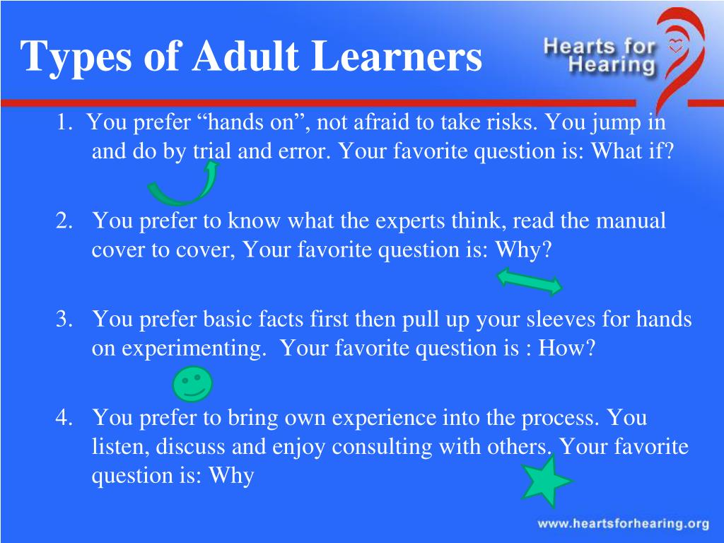 Types of Adult Learners