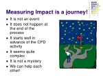 measuring impact is a journey