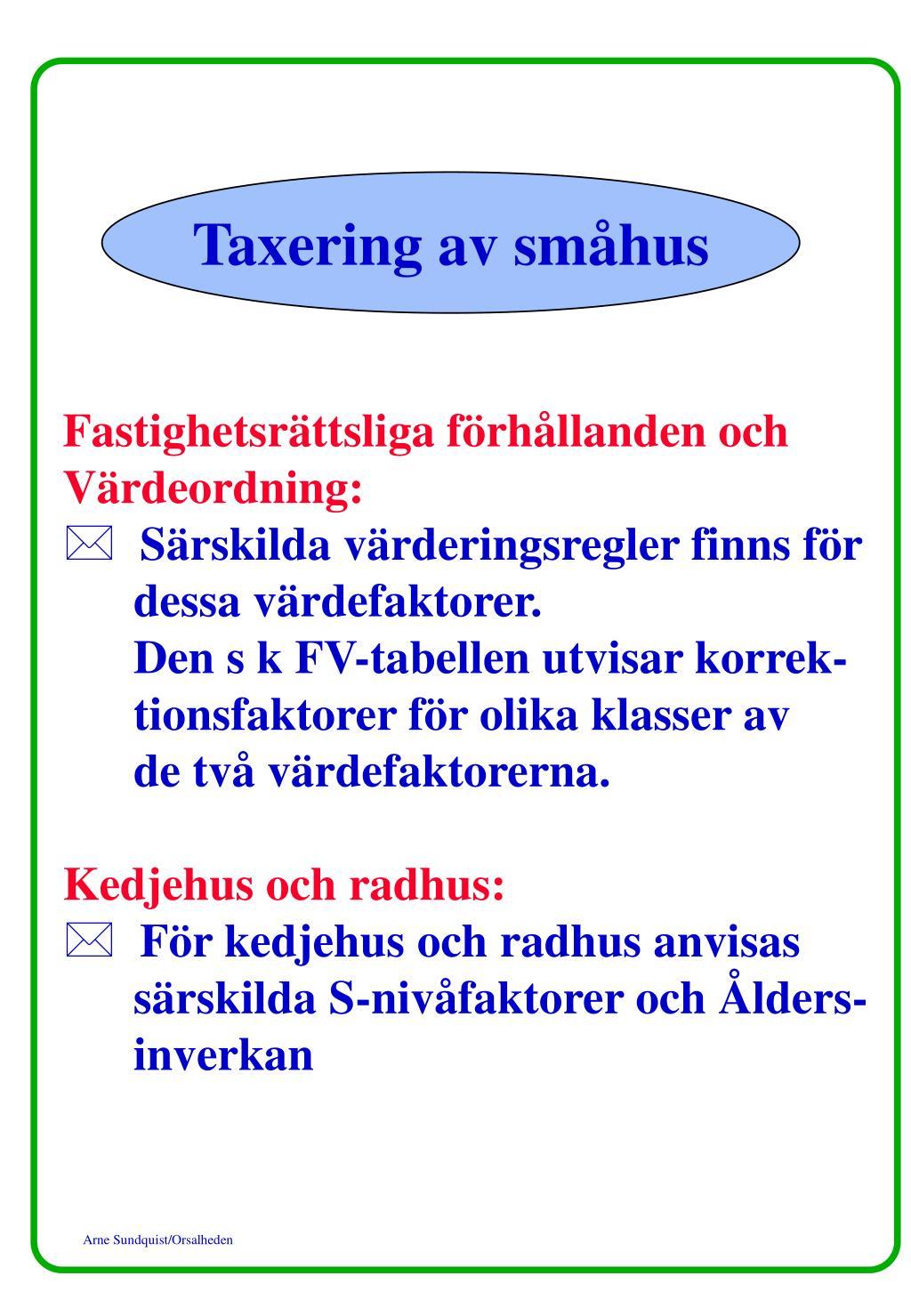 Taxering av småhus