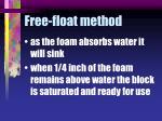 free float method26