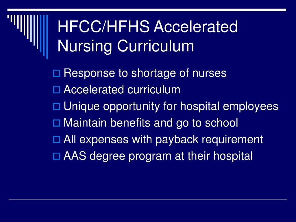 HFCC/HFHS Accelerated Nursing Curriculum