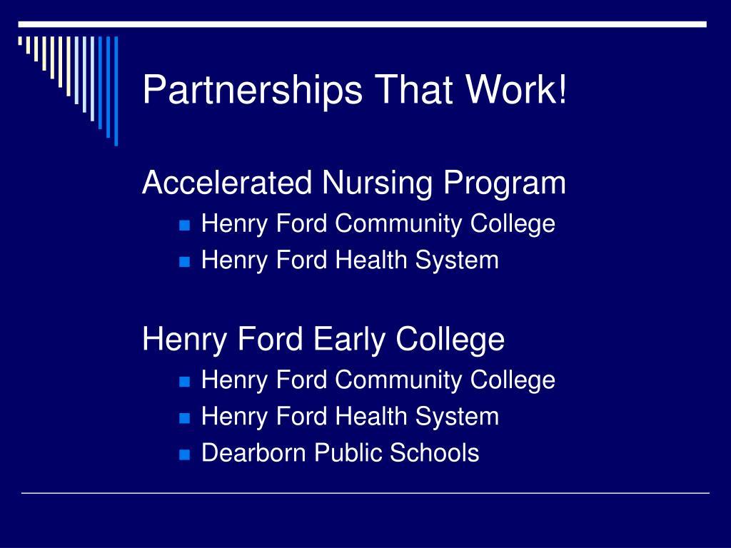 Partnerships That Work!