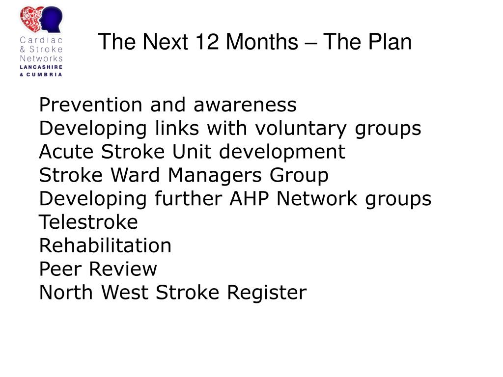 The Next 12 Months – The Plan
