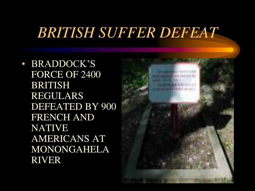 BRITISH SUFFER DEFEAT