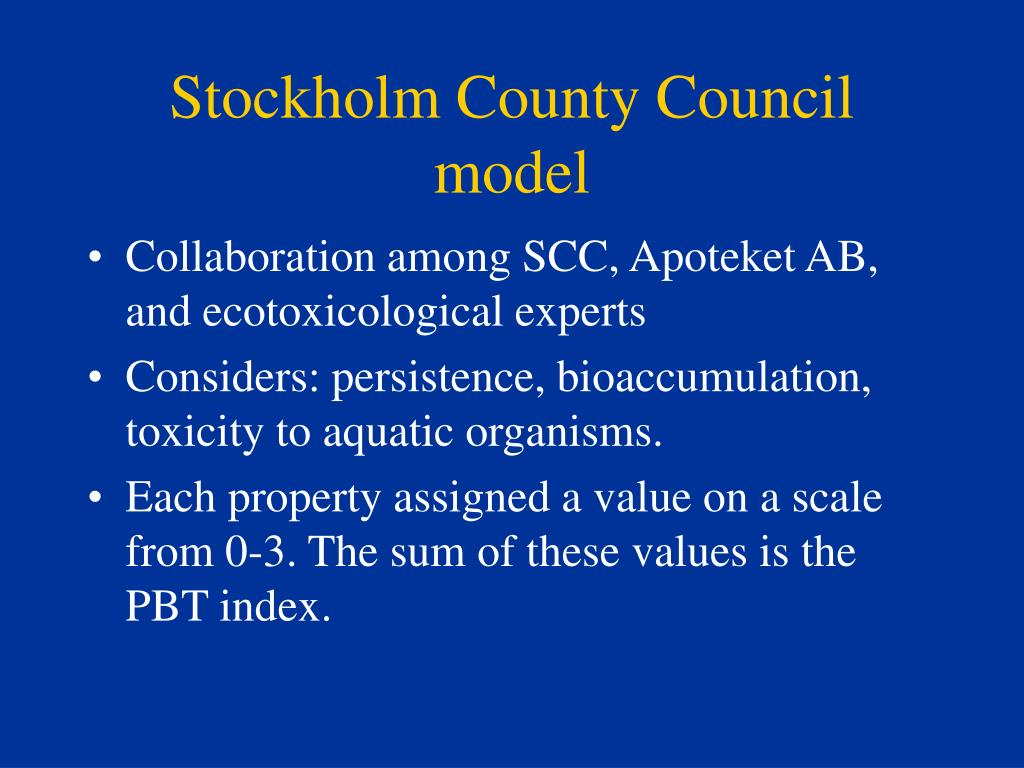 Stockholm County Council model