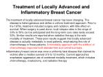 treatment of locally advanced and inflammatory breast cancer