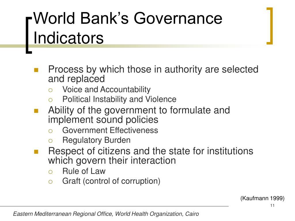 World Bank's Governance Indicators