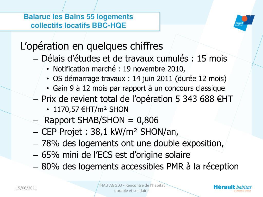 Balaruc les Bains 55 logements