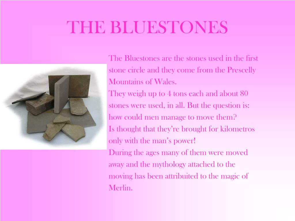 THE BLUESTONES