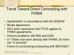 trend toward direct contracting with fhwa