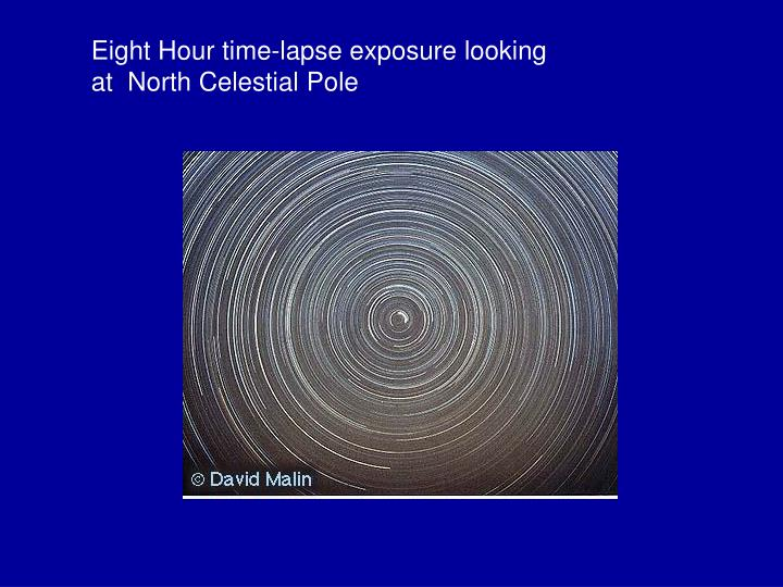 Eight Hour time-lapse exposure looking