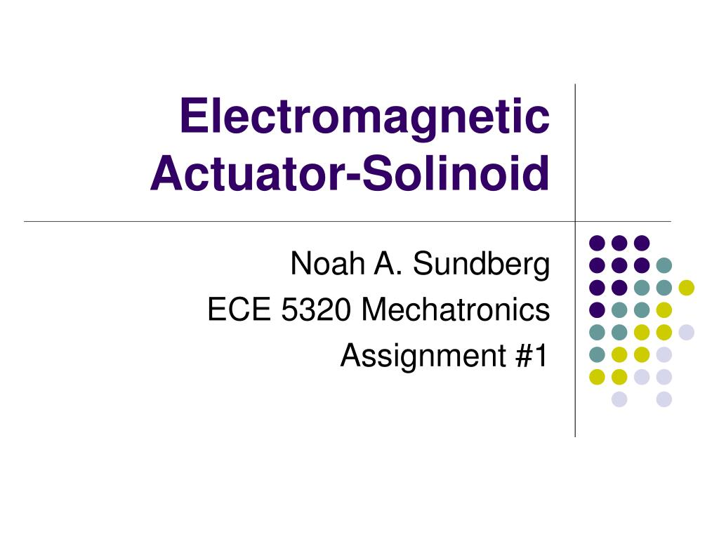 electromagnetic actuator solinoid