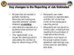 key changes to the reporting of job estimates