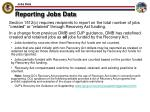 reporting jobs data