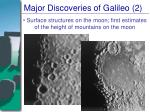 major discoveries of galileo 2