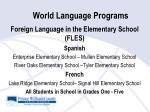 world language programs