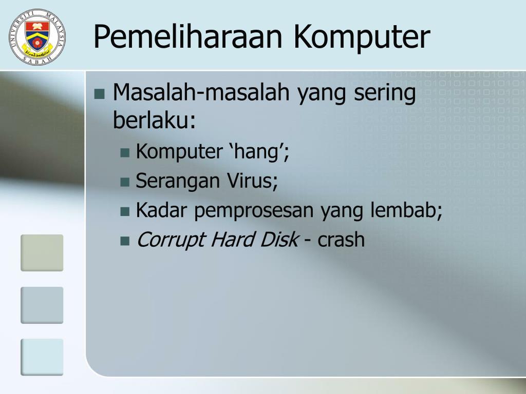 Pemeliharaan Komputer