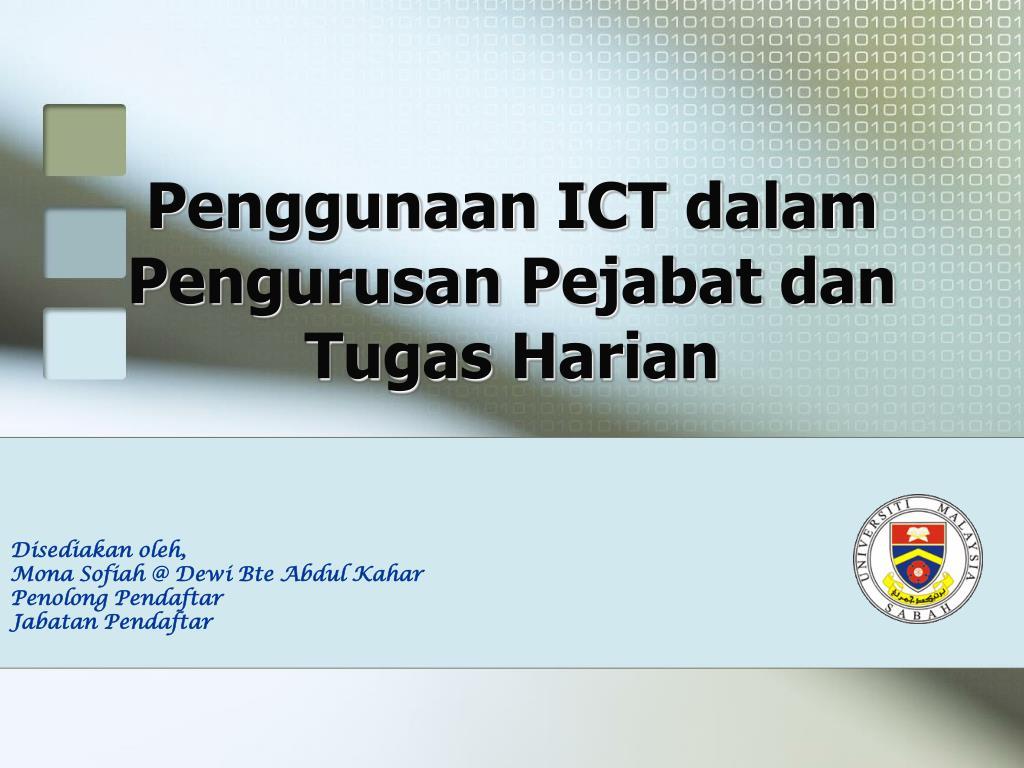 Penggunaan ICT dalam Pengurusan Pejabat dan Tugas Harian