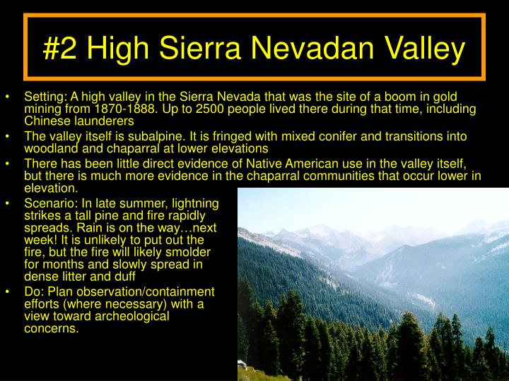 #2 High Sierra Nevadan Valley