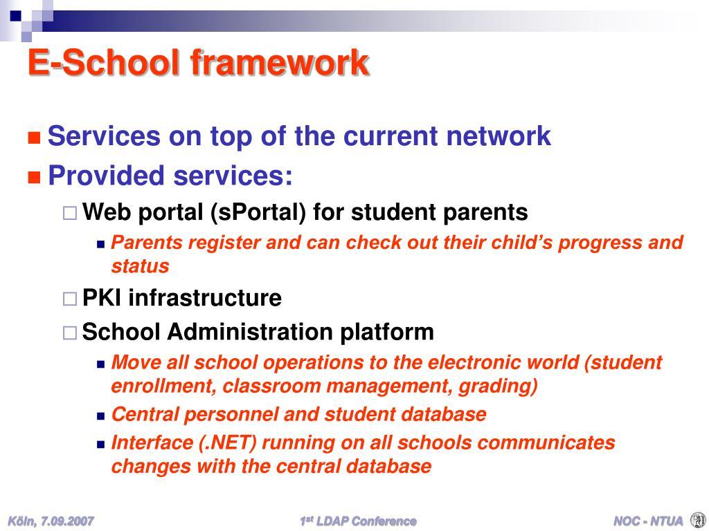 E-School framework
