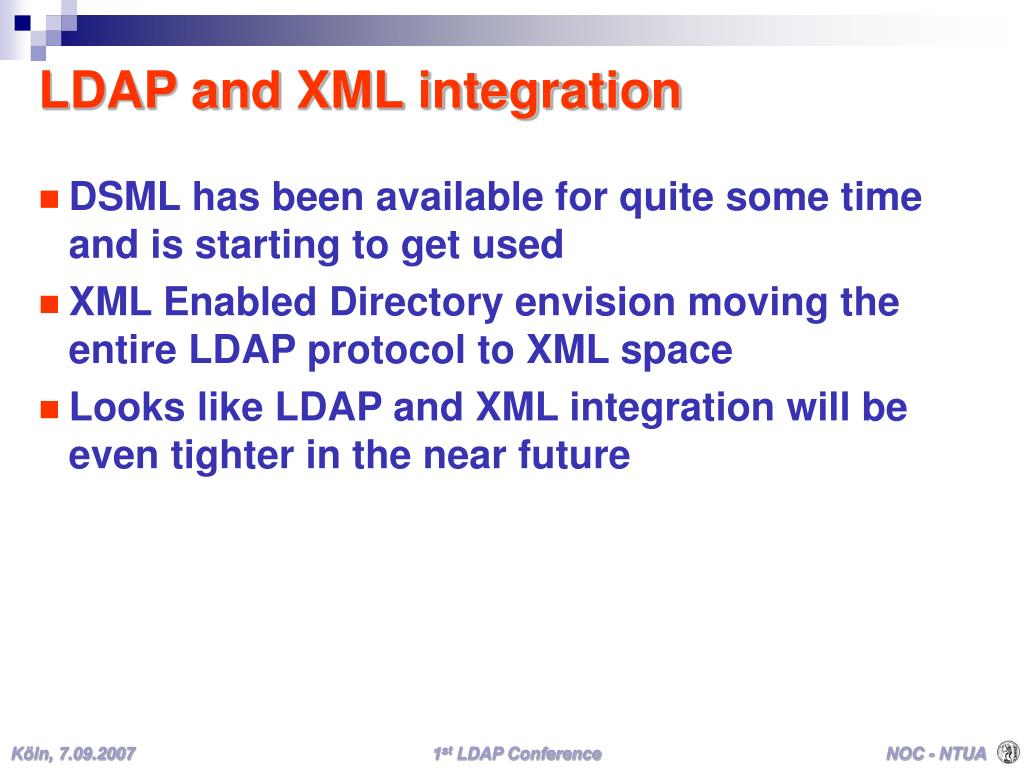 LDAP and XML integration
