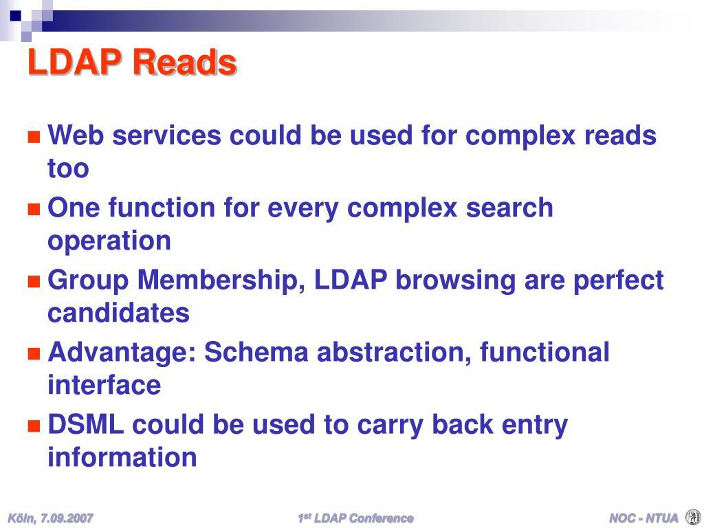 LDAP Reads