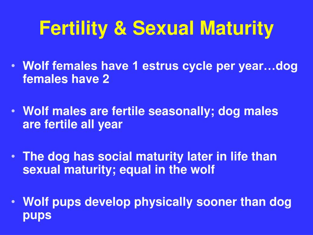 Fertility & Sexual Maturity