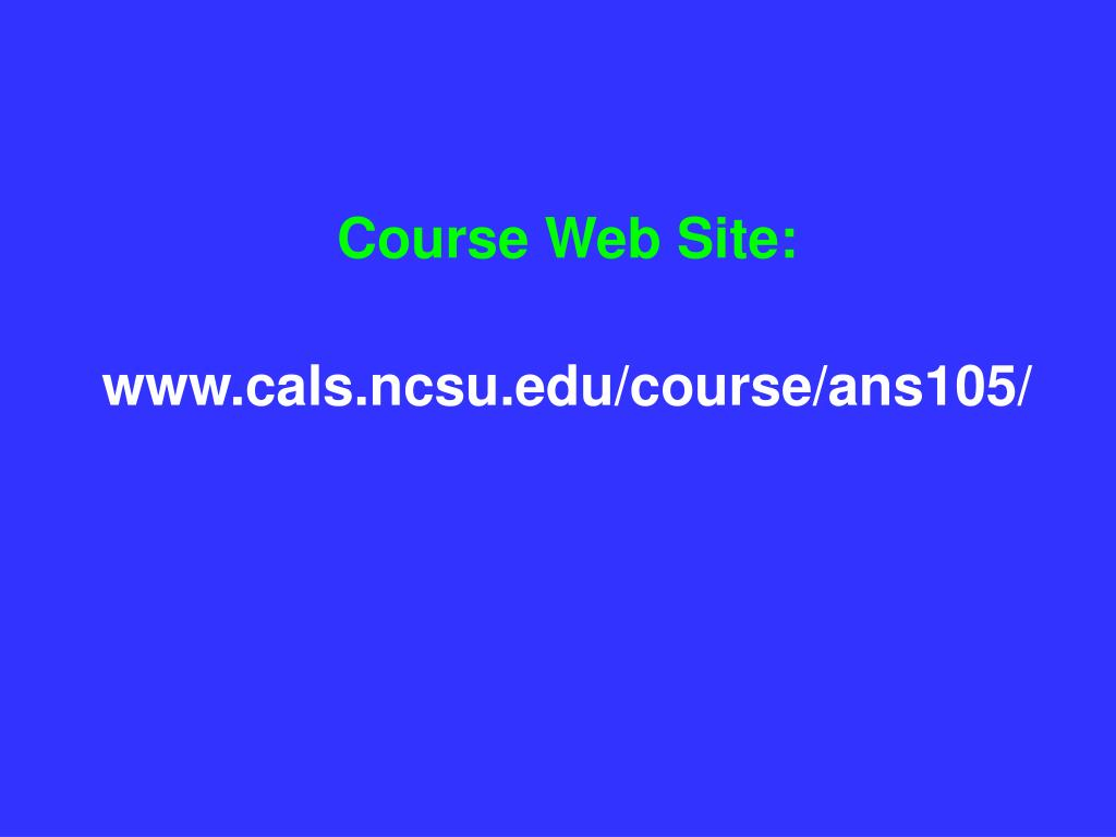 Course Web Site: