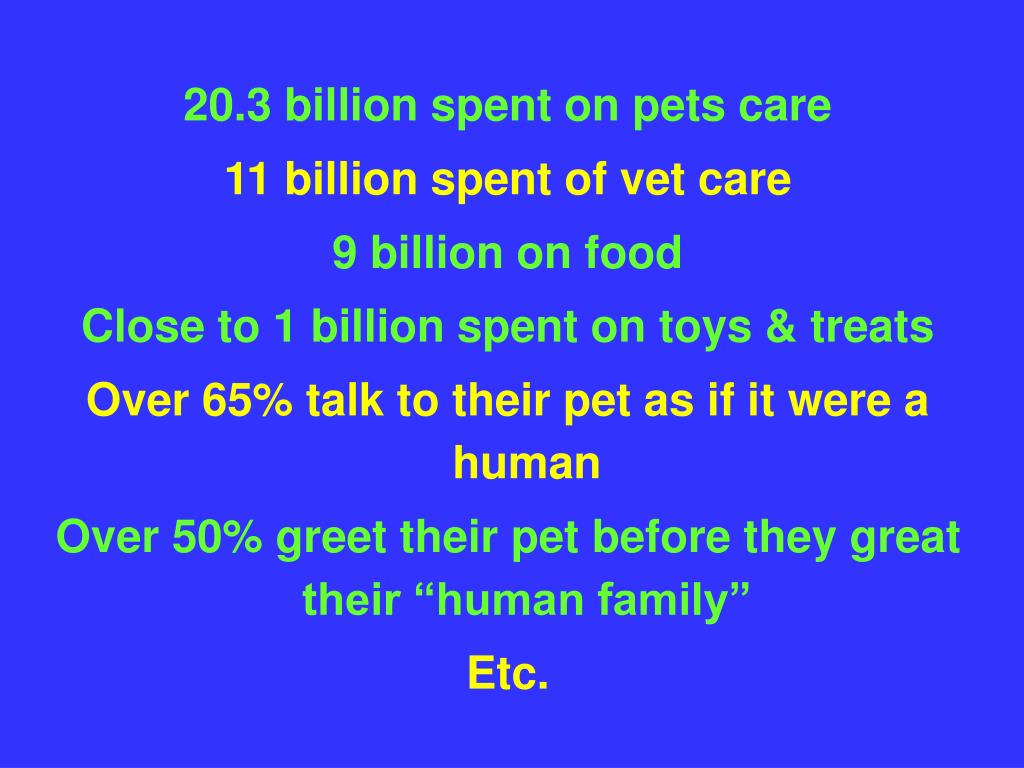 20.3 billion spent on pets care