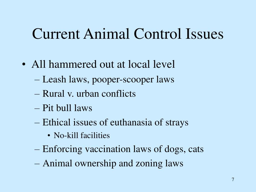 Current Animal Control Issues