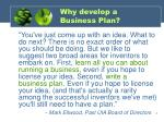 why develop a business plan5