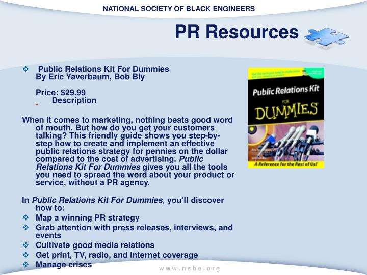 PR Resources