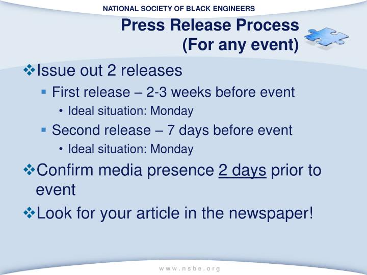 Press Release Process