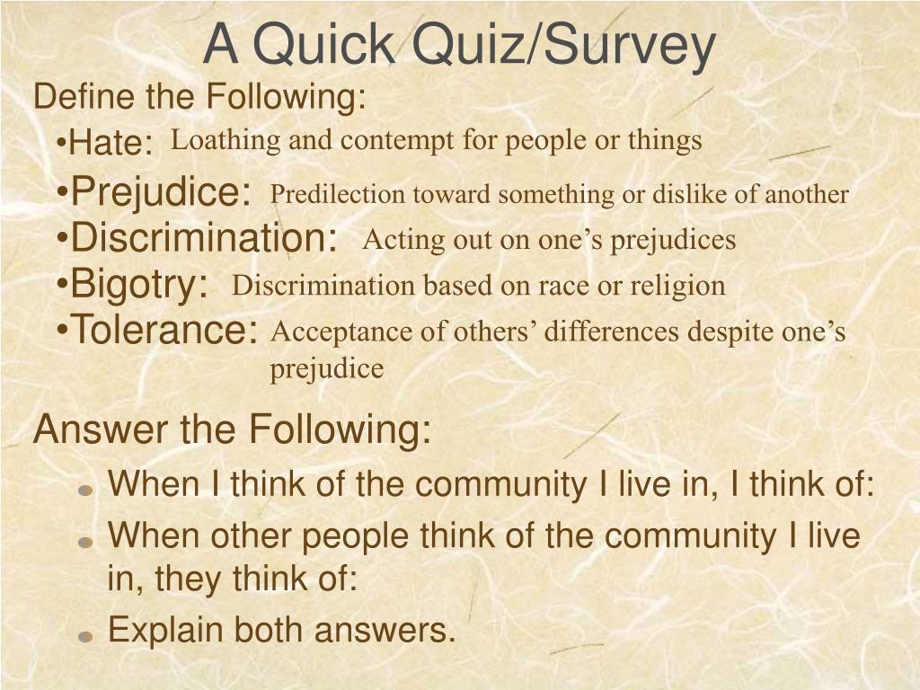A Quick Quiz/Survey