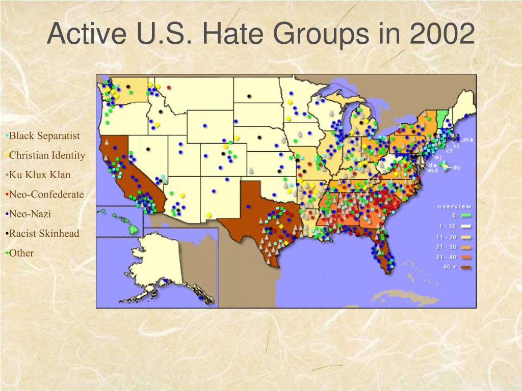 Active U.S. Hate Groups in 2002