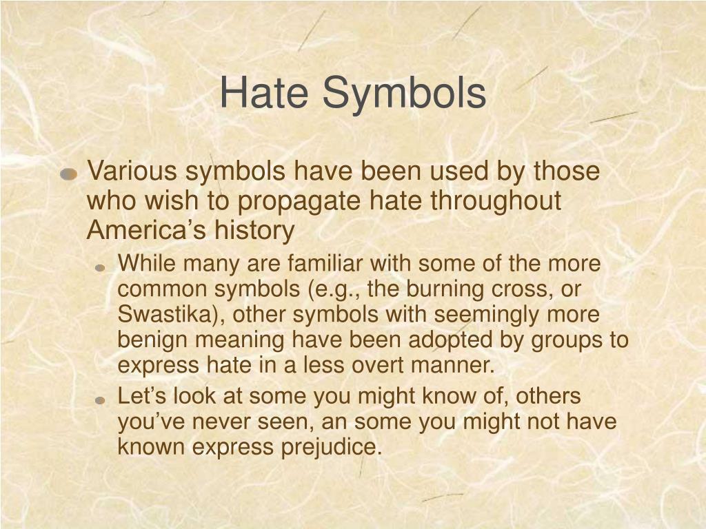 Hate Symbols