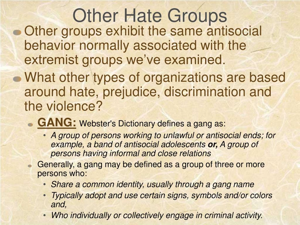 Other Hate Groups