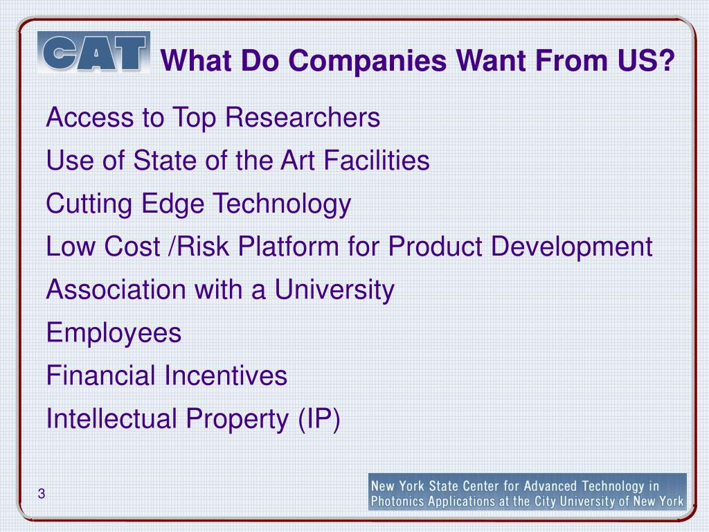 What Do Companies Want From US?