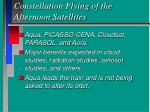constellation flying of the afternoon satellites