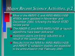 major recent science activities p 2