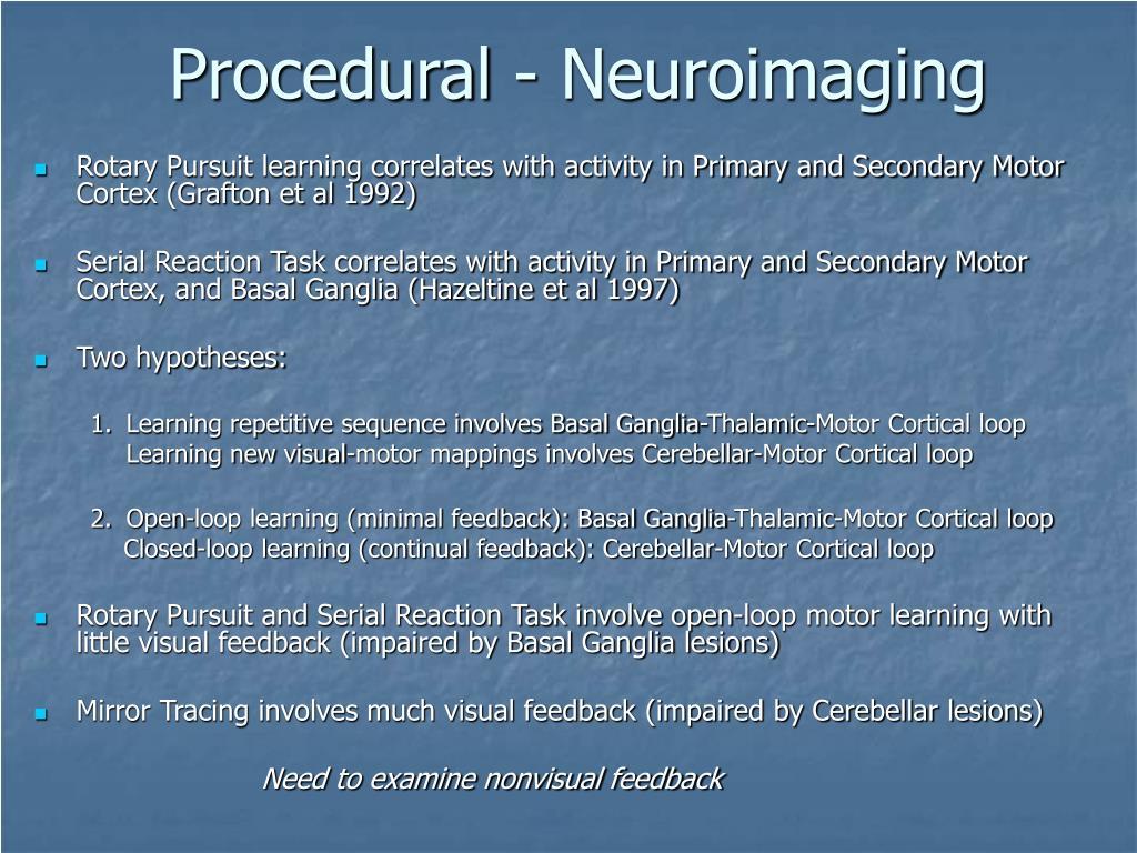 Procedural - Neuroimaging