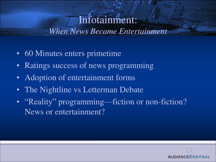 Infotainment:
