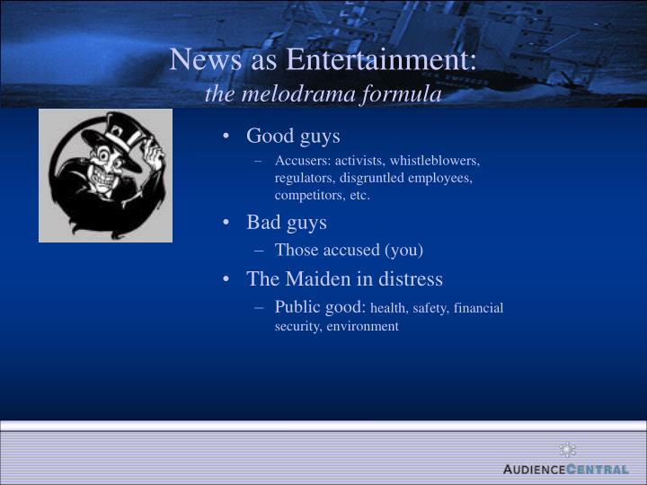News as Entertainment: