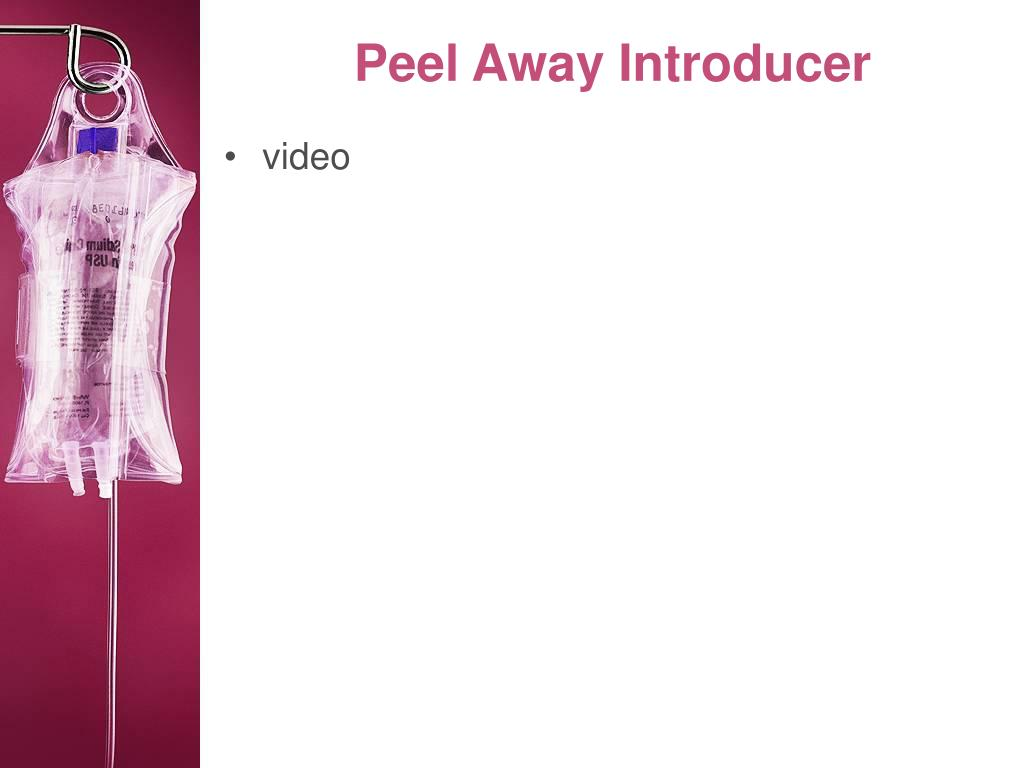 Peel Away Introducer