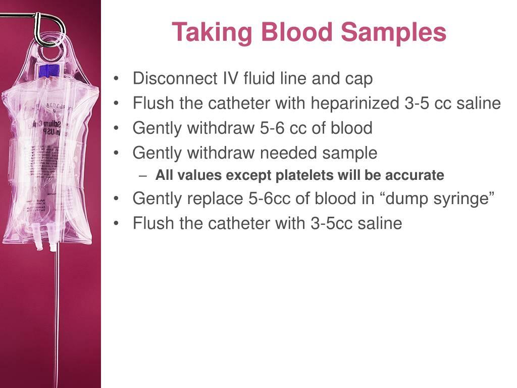Taking Blood Samples